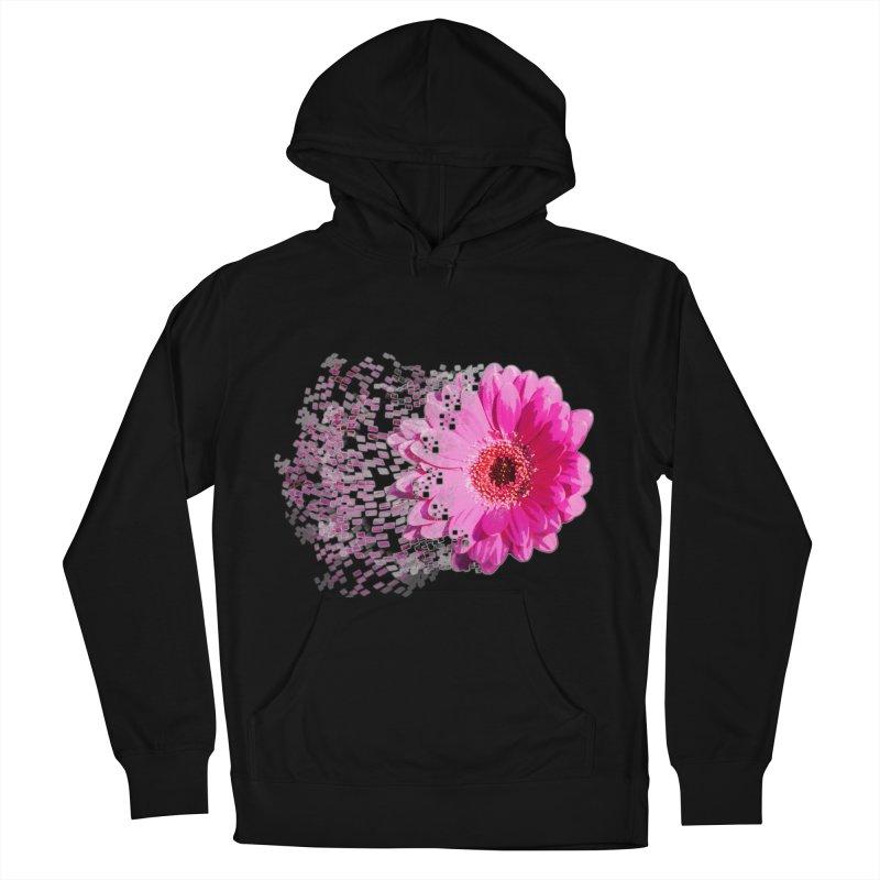 Pink gerbera flower Women's French Terry Pullover Hoody by Mirabelle Digital Art shop