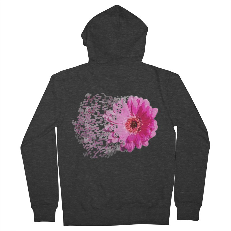Pink gerbera flower Women's Zip-Up Hoody by Mirabelle Digital Art shop