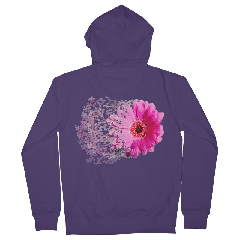 Pink gerbera flower Women's Zip-Up Hoody by Mirabelle Digital Art shop