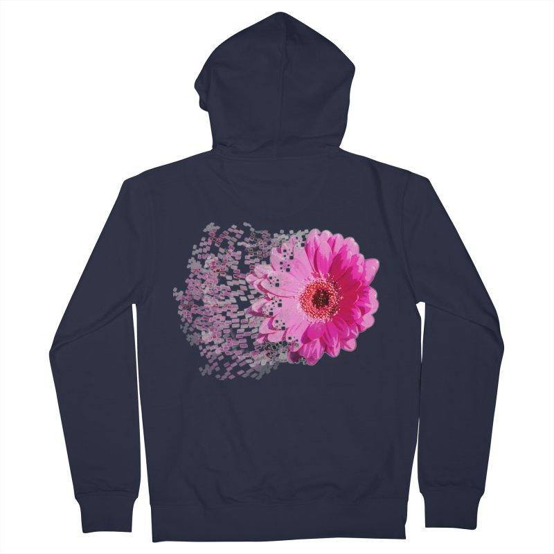 Pink gerbera flower Women's French Terry Zip-Up Hoody by Mirabelle Digital Art shop