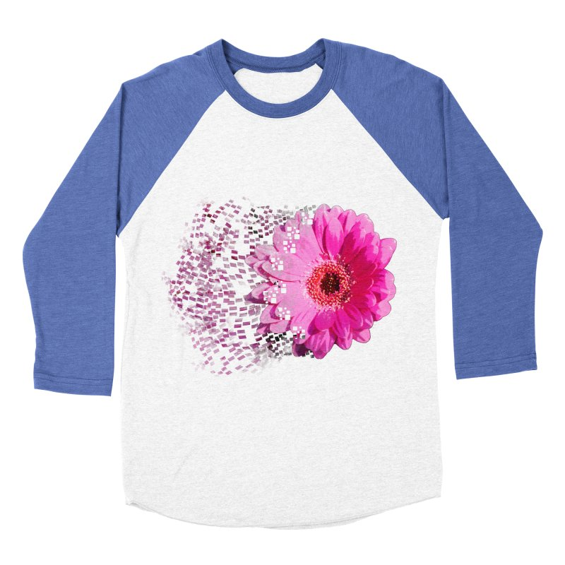 Pink gerbera flower Women's Baseball Triblend T-Shirt by Mirabelle Digital Art shop