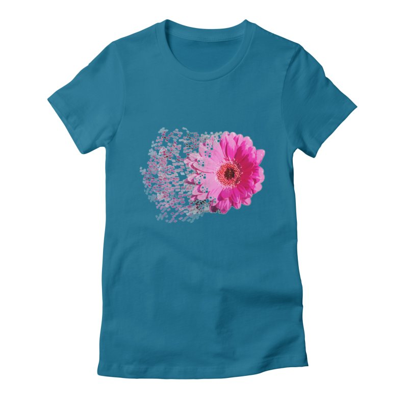 Pink gerbera flower Women's Fitted T-Shirt by Mirabelle Digital Art shop