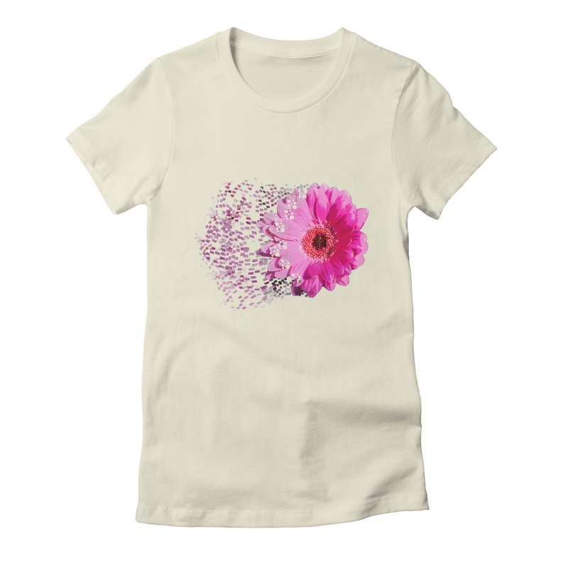 Pink gerbera flower Women's Fitted T-Shirt by Mirabelle Digital Art shop