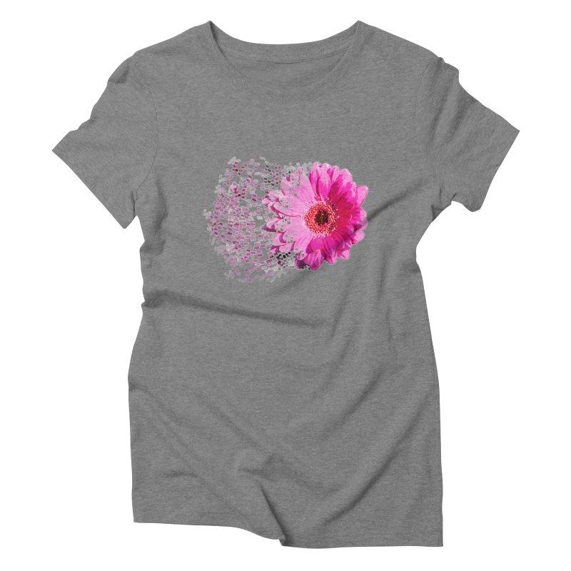 Pink gerbera flower Women's Triblend T-shirt by Mirabelle Digital Art shop