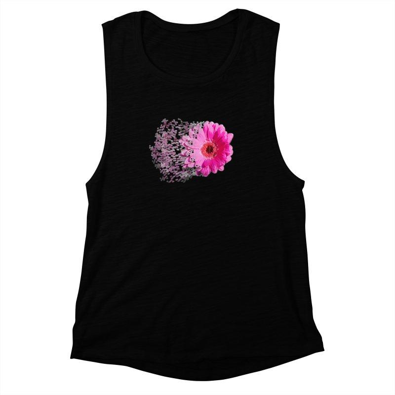 Pink gerbera flower Women's Muscle Tank by Mirabelle Digital Art shop