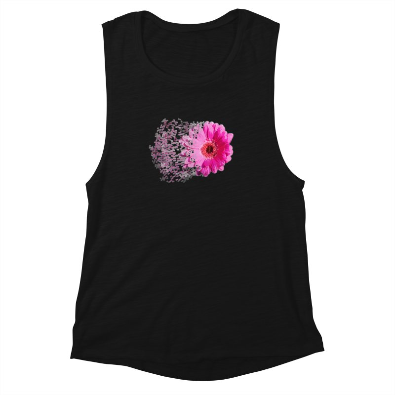 Pink gerbera flower Women's Muscle Tank by Mirabelle Digital Art shop