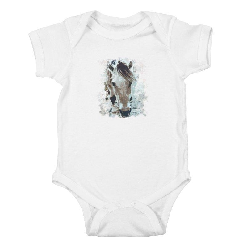 Sweet little horse Kids Baby Bodysuit by Mirabelle Digital Art shop