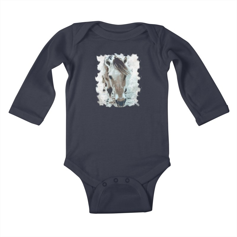 Sweet little horse Kids Baby Longsleeve Bodysuit by Mirabelle Digital Art shop