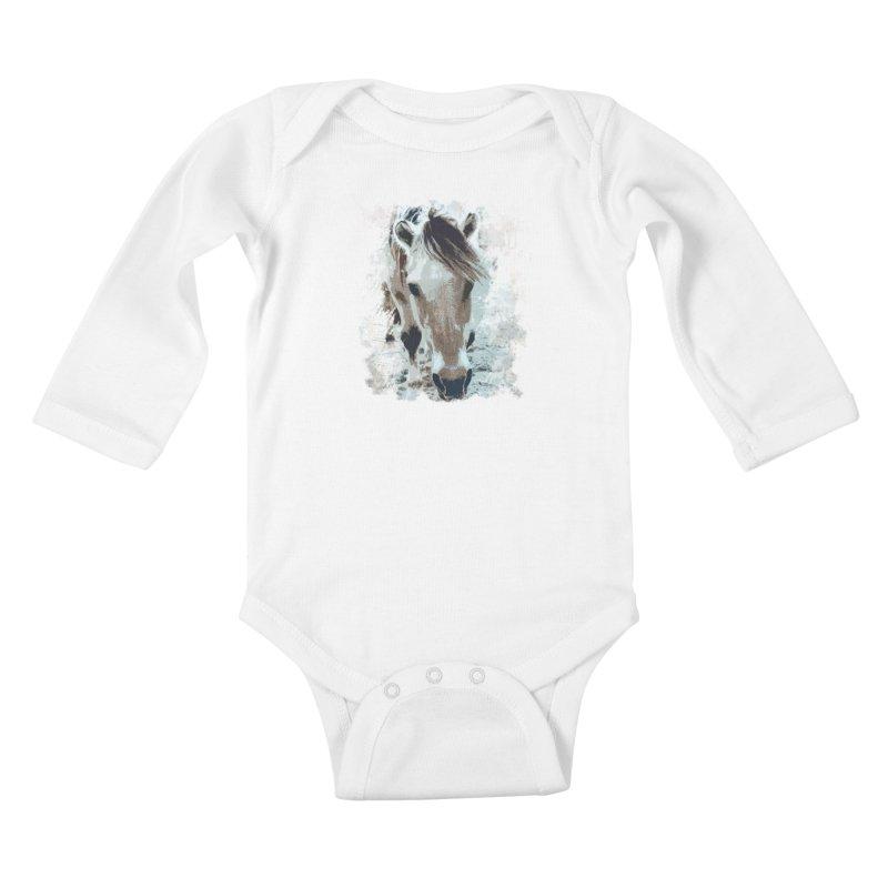 Sweet little horse Kids Baby Longsleeve Bodysuit by Mirabelle Digital Art shop