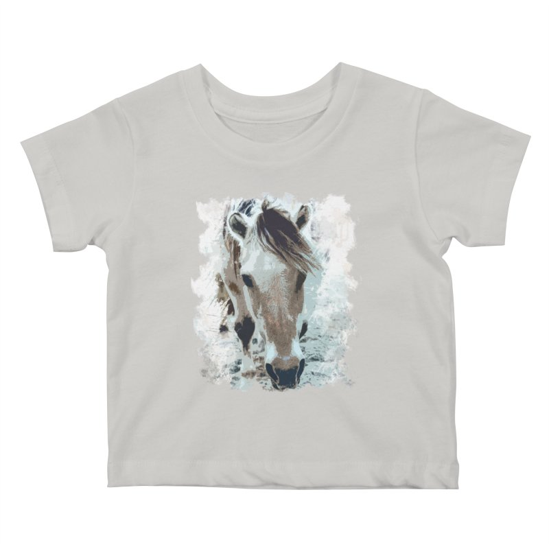 Sweet little horse Kids Baby T-Shirt by Mirabelle Digital Art shop