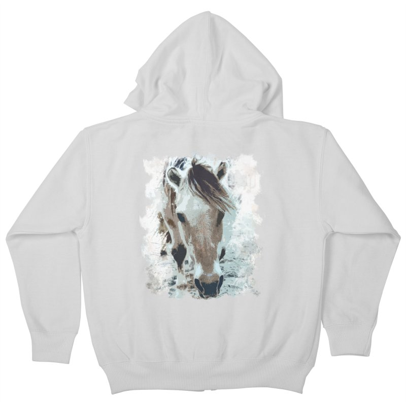 Sweet little horse Kids Zip-Up Hoody by Mirabelle Digital Art shop