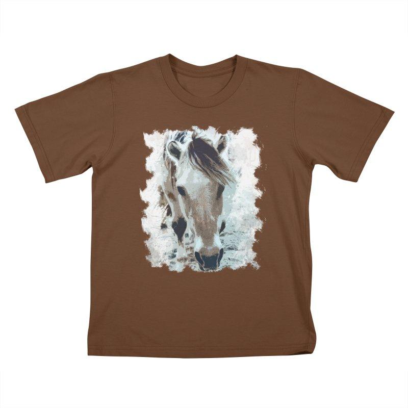 Sweet little horse Kids T-Shirt by Mirabelle Digital Art shop