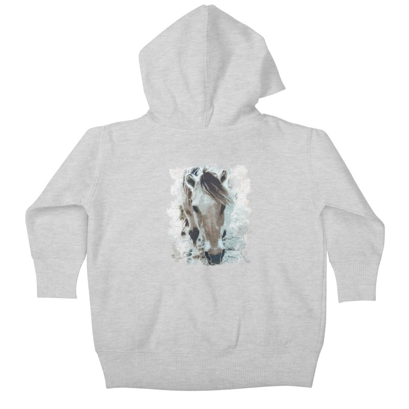 Sweet little horse Kids Baby Zip-Up Hoody by Mirabelle Digital Art shop