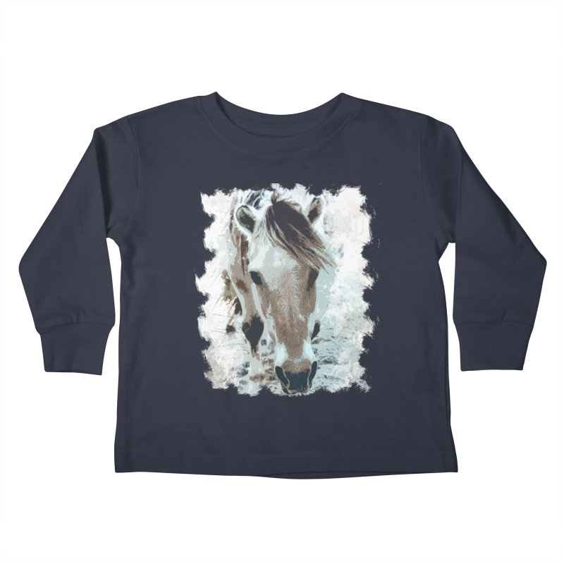 Sweet little horse Kids Toddler Longsleeve T-Shirt by Mirabelle Digital Art shop