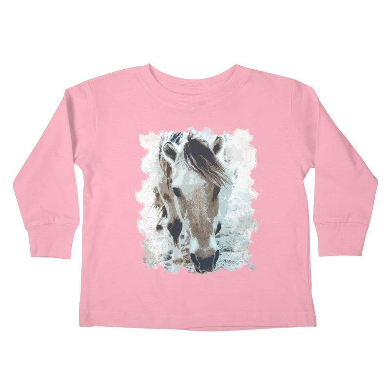 Sweet little horse Kids Toddler Longsleeve T-Shirt by Mirabelle Digital Art shop