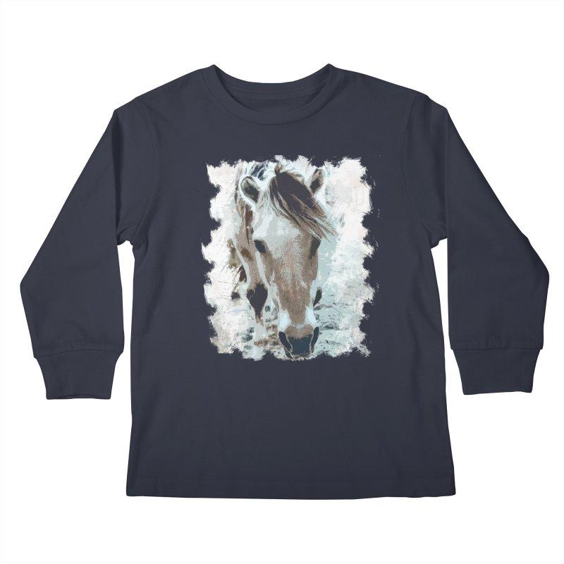 Sweet little horse Kids Longsleeve T-Shirt by Mirabelle Digital Art shop