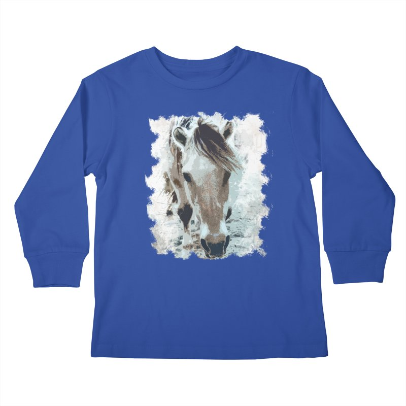 Sweet little horse Kids Longsleeve T-Shirt by Mirabelle Digital Art shop