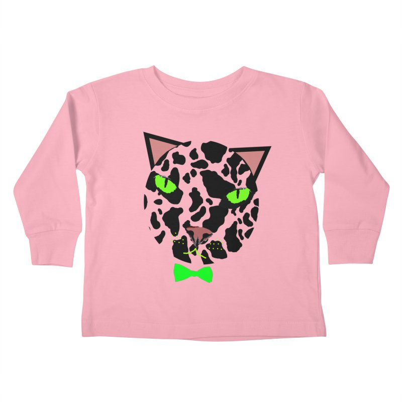 Meow! Kids Toddler Longsleeve T-Shirt by Mirabelle Digital Art shop