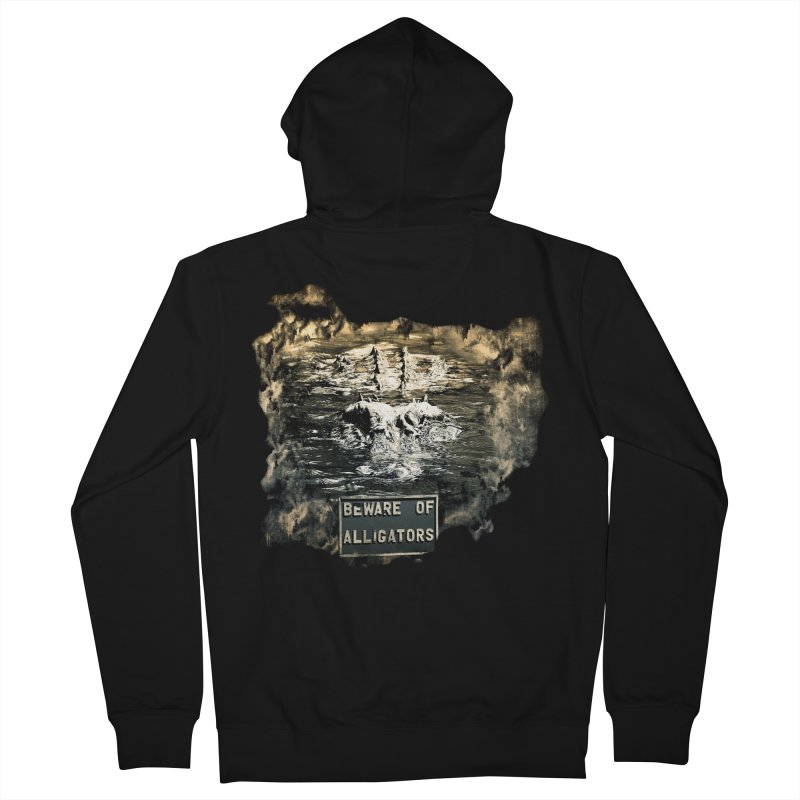Beware! Men's French Terry Zip-Up Hoody by Mirabelle Digital Art shop