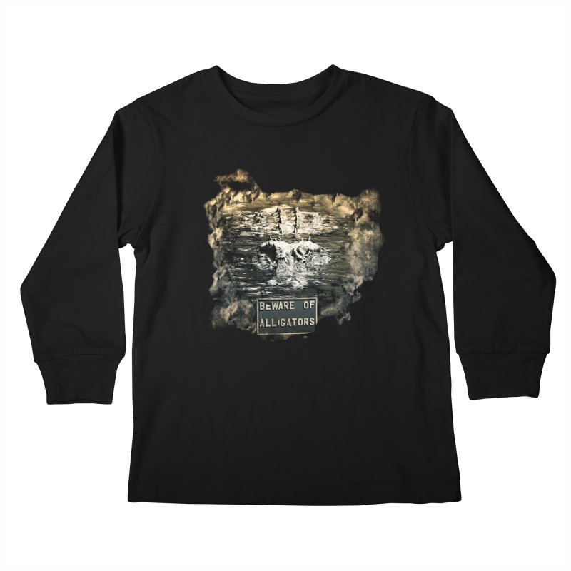 Beware! Kids Longsleeve T-Shirt by Mirabelle Digital Art shop