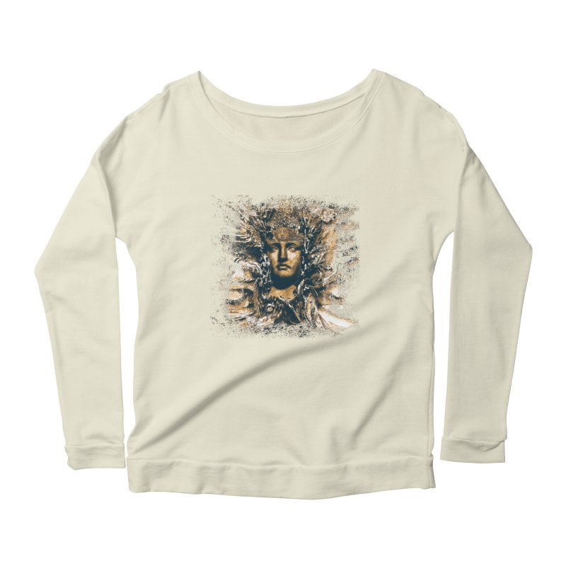 Goddess Of The Sun Women's Longsleeve Scoopneck  by Mirabelle Digital Art shop