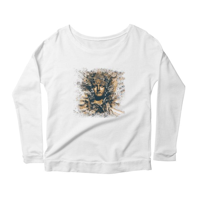 Goddess Of The Sun Women's Scoop Neck Longsleeve T-Shirt by Mirabelle Digital Art shop