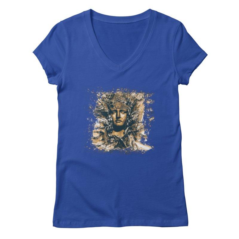 Goddess Of The Sun Women's V-Neck by Mirabelle Digital Art shop