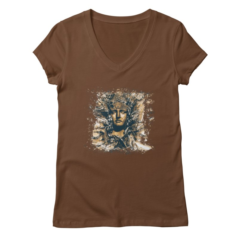 Goddess Of The Sun Women's V-Neck by Mirabelle Digital Art shop