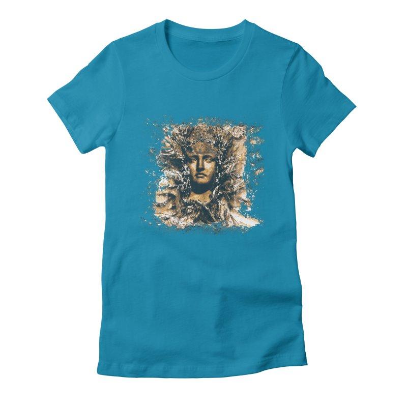 Goddess Of The Sun Women's Fitted T-Shirt by Mirabelle Digital Art shop