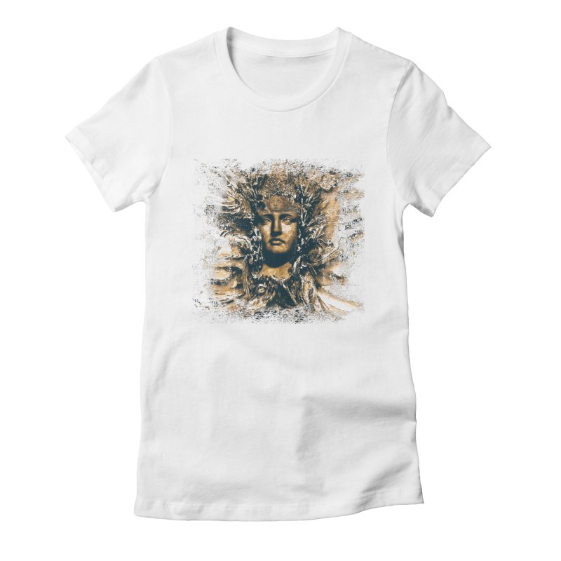 Goddess Of The Sun Women's Fitted T-Shirt by Mirabelle Digital Art shop