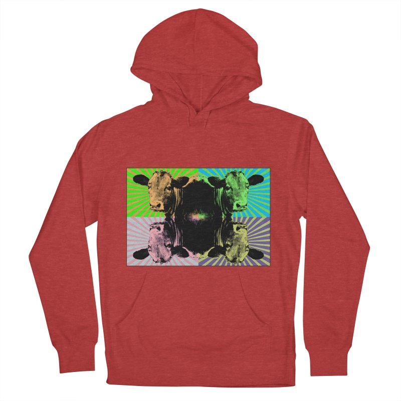 Popart cow Men's Pullover Hoody by Mirabelle Digital Art shop
