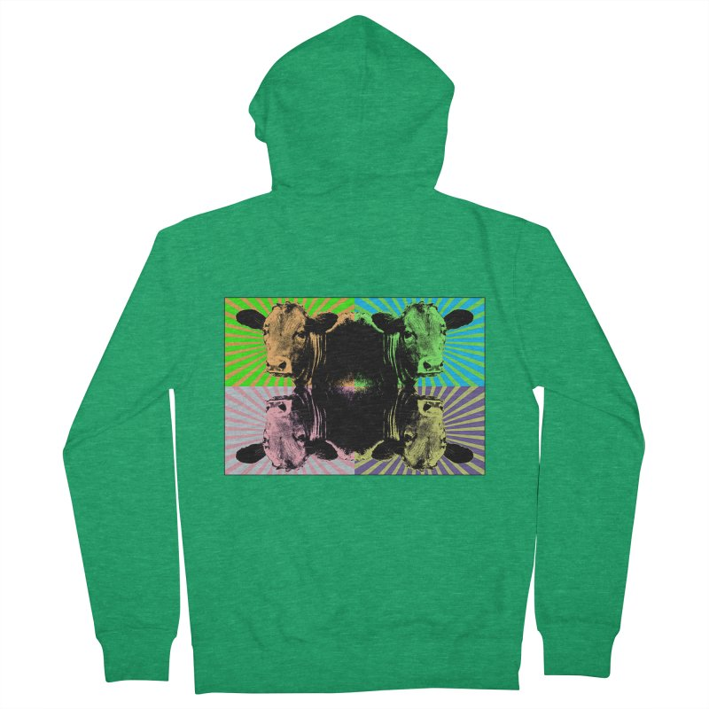 Popart cow Men's French Terry Zip-Up Hoody by Mirabelle Digital Art shop