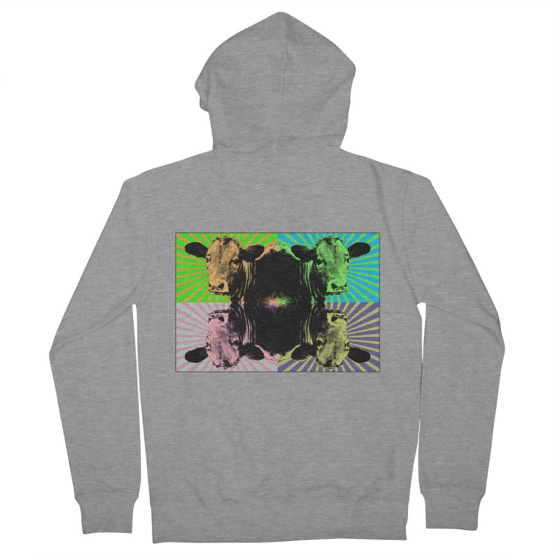 Popart cow Men's Zip-Up Hoody by Mirabelle Digital Art shop
