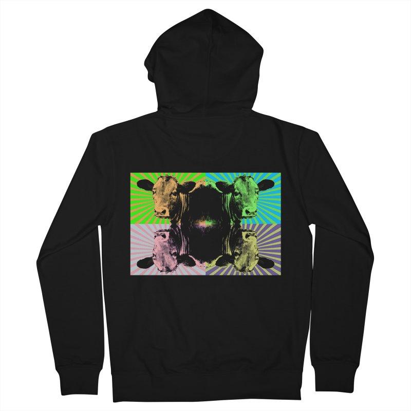 Popart cow Men's Zip-Up Hoody by Mirabelle Digital Art shop