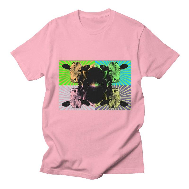 Popart cow Men's T-Shirt by Mirabelle Digital Art shop