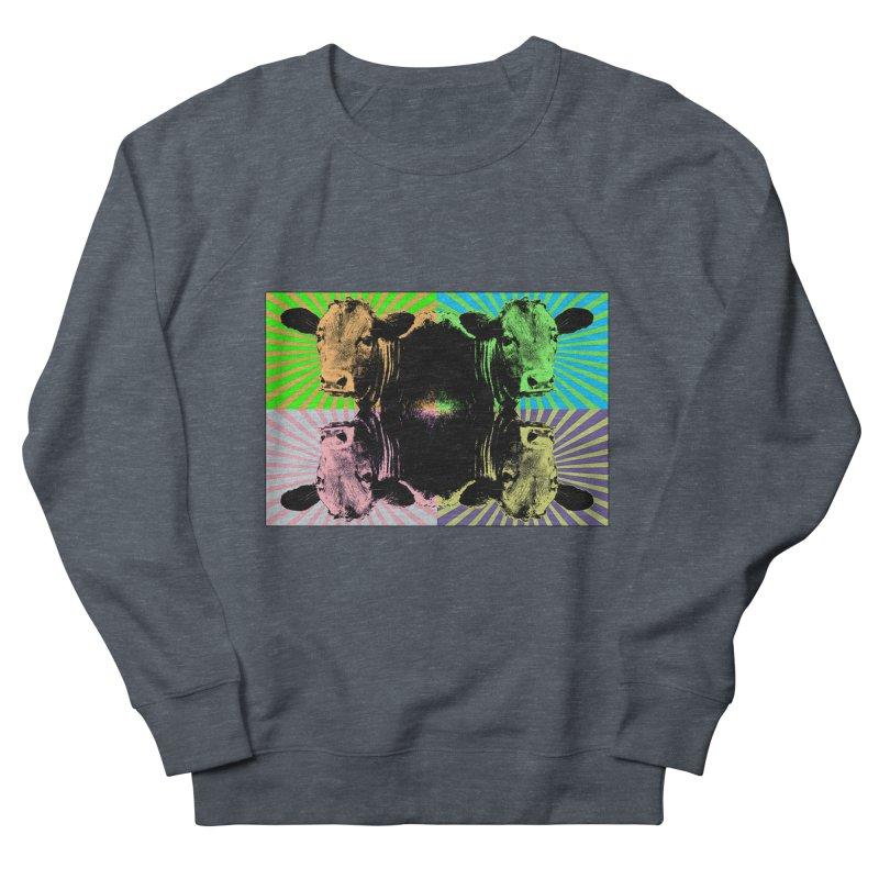 Popart cow Women's French Terry Sweatshirt by Mirabelle Digital Art shop