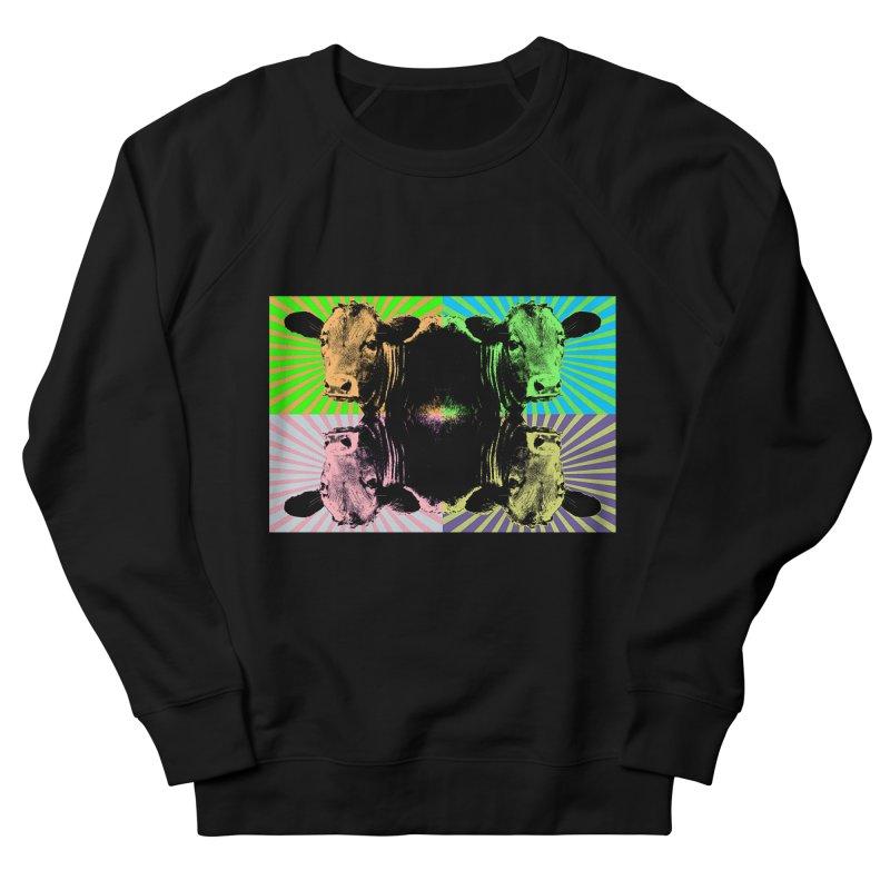 Popart cow Women's Sweatshirt by Mirabelle Digital Art shop
