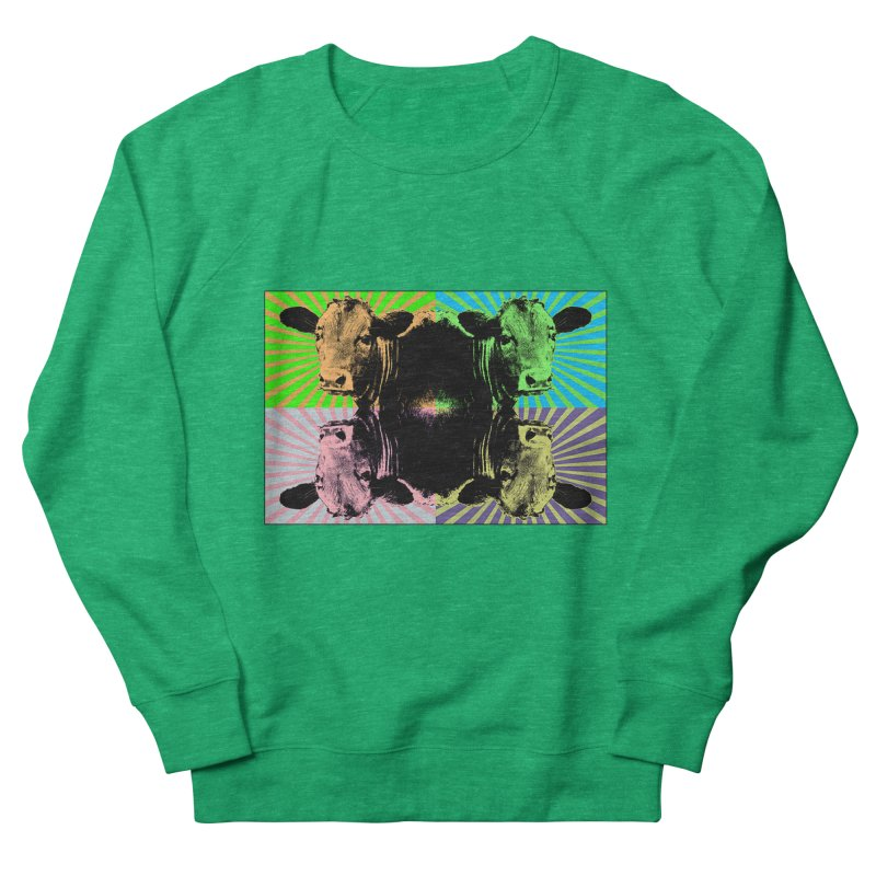 Popart cow Men's French Terry Sweatshirt by Mirabelle Digital Art shop