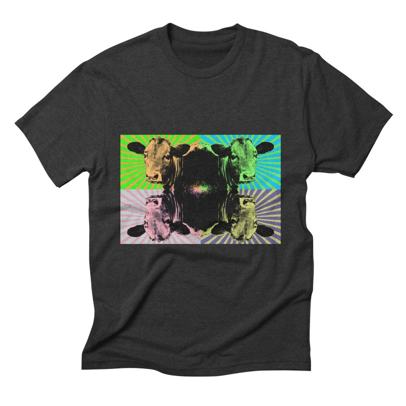 Popart cow Men's Triblend T-Shirt by Mirabelle Digital Art shop