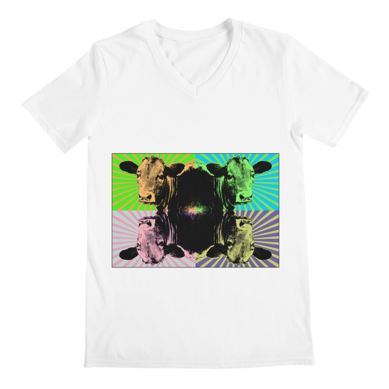 Popart cow Men's V-Neck by Mirabelle Digital Art shop