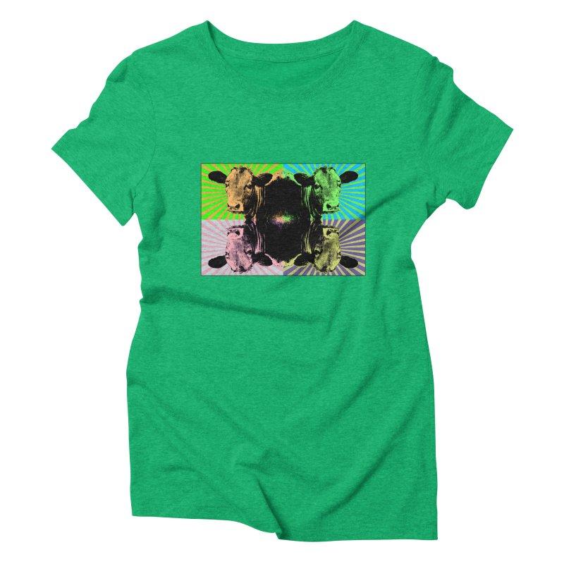 Popart cow Women's Triblend T-shirt by Mirabelle Digital Art shop