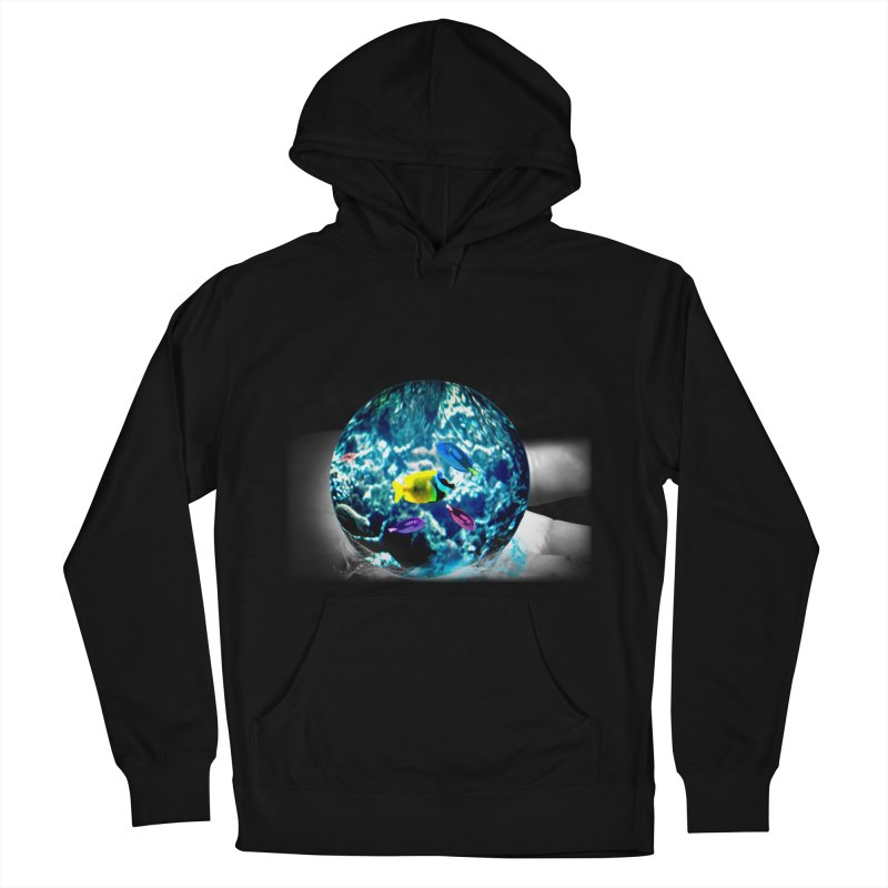 Globe with the ocean in his hands Women's Pullover Hoody by Mirabelle Digital Art shop