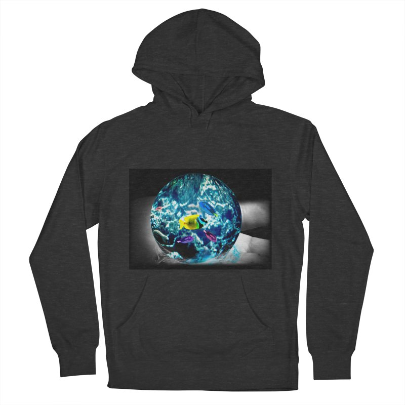 Globe with the ocean in his hands Men's Pullover Hoody by Mirabelle Digital Art shop