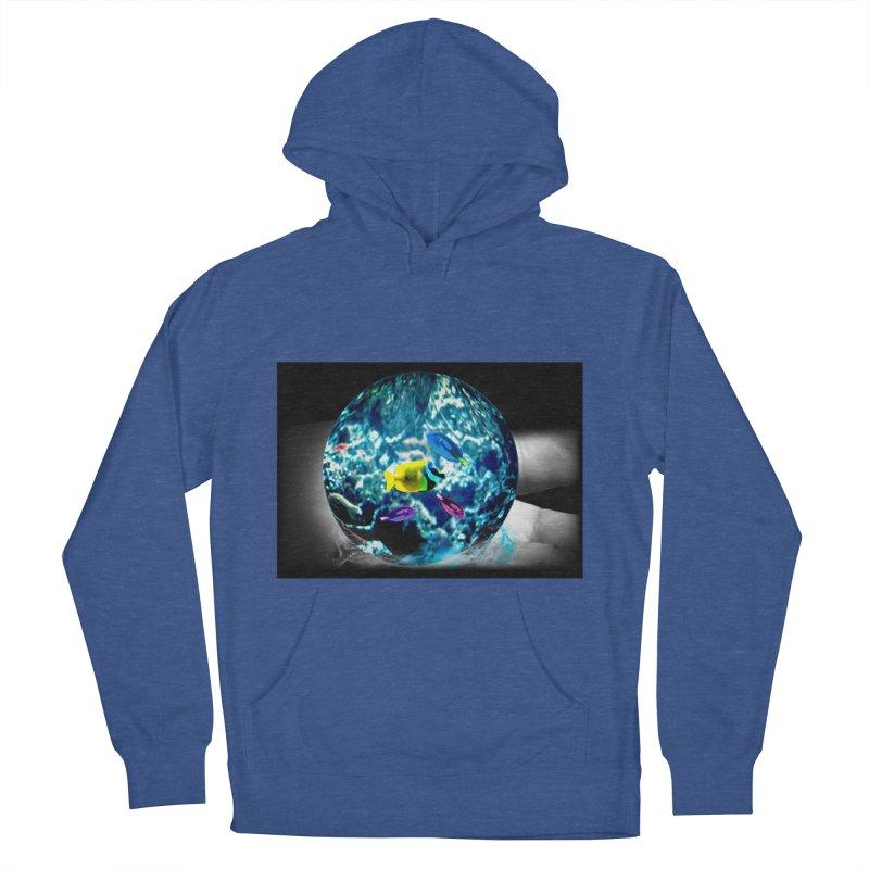 Globe with the ocean in his hands Men's Pullover Hoody by Mirabelle Digital Art shop