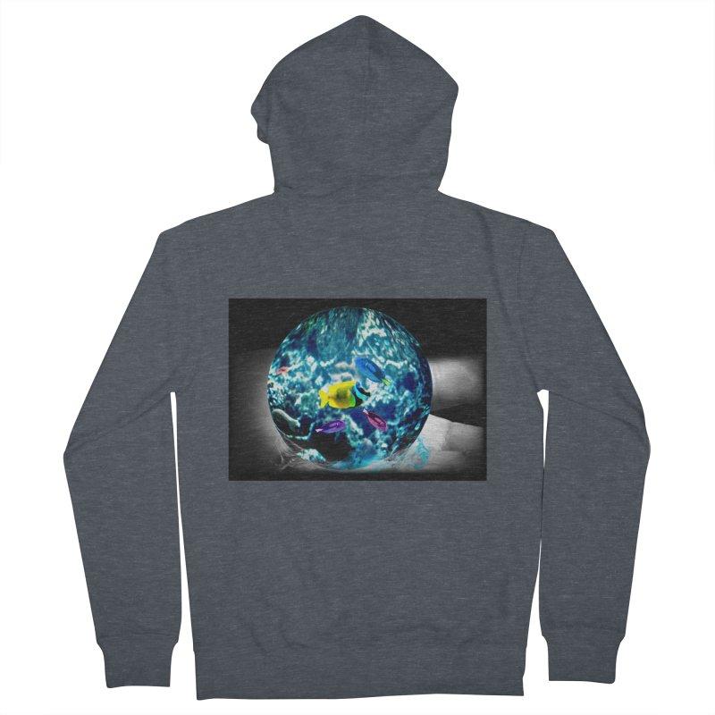 Globe with the ocean in his hands Women's Zip-Up Hoody by Mirabelle Digital Art shop