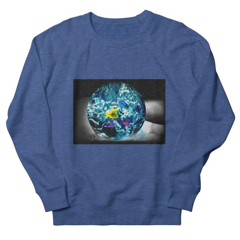 Globe with the ocean in his hands Men's Sweatshirt by Mirabelle Digital Art shop