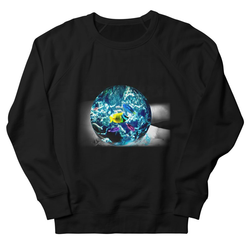 Globe with the ocean in his hands Men's French Terry Sweatshirt by Mirabelle Digital Art shop