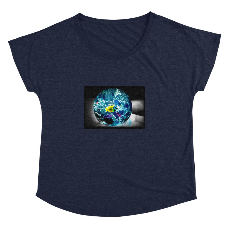Globe with the ocean in his hands Women's Dolman by Mirabelle Digital Art shop