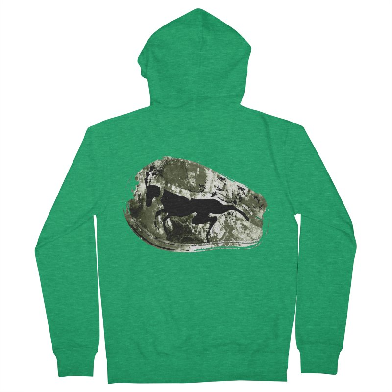 Running deer Men's Zip-Up Hoody by Mirabelle Digital Art shop