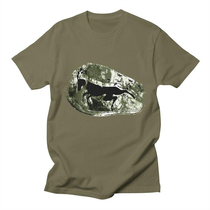 Running deer Men's T-Shirt by Mirabelle Digital Art shop